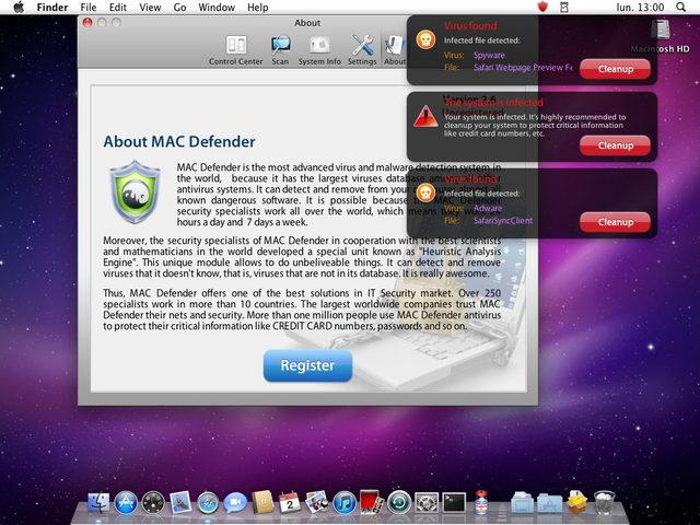Here is the Mac Defender Windows