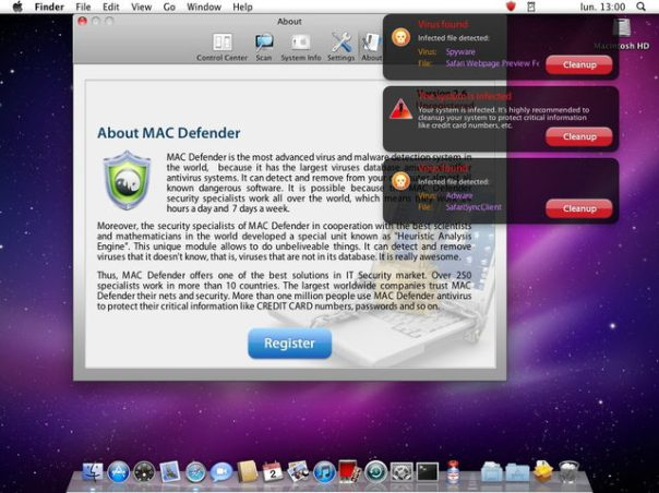 Here is the Mac Defender Windows
