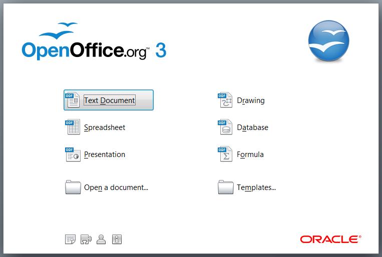 Open office template