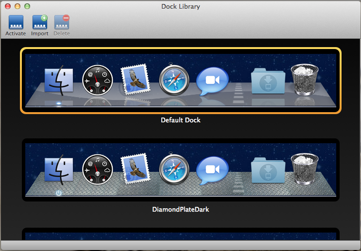 dock library app for mac