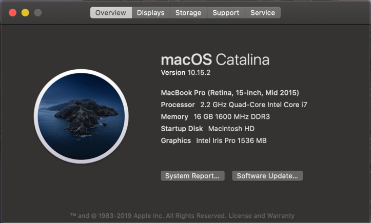 """A picture of the """"About This Mac"""" window with details about the Mac.  This Mac is an Intel Mac"""
