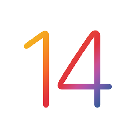 A picture of the iOS 14 logo.