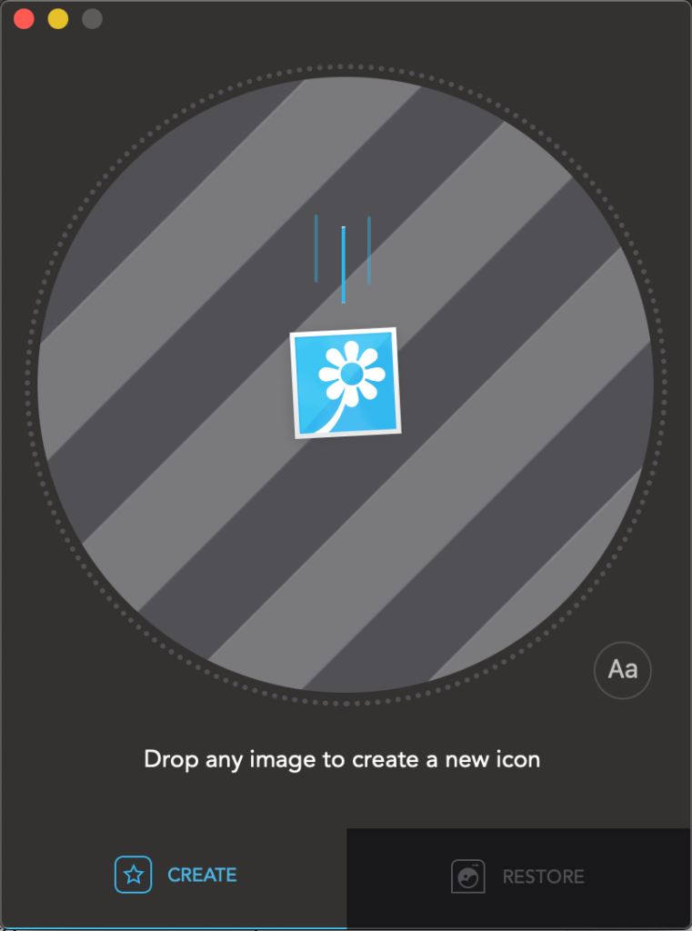 A picture of the Image2Icon interface upon opening.