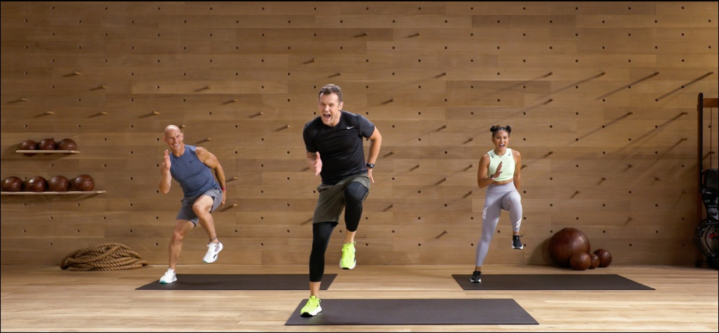 Image from Apple Fitness exercise stream, Image courtesy of Apple