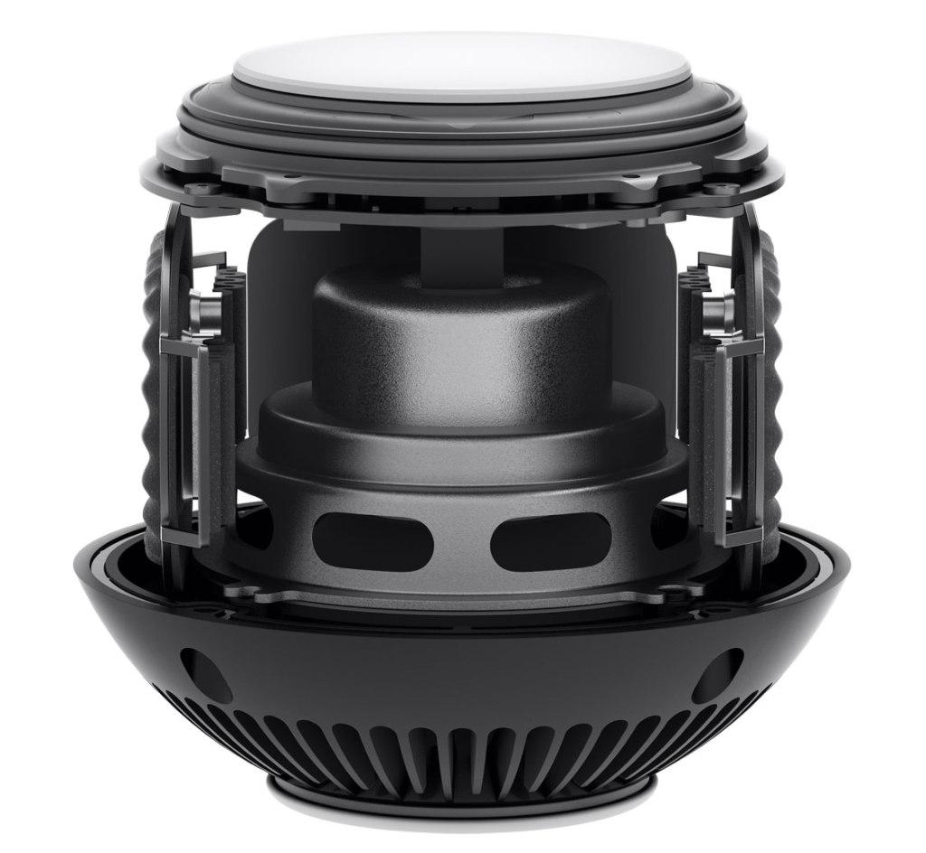 The HomePod Mini's internal speaker system. Image courtesy of Apple