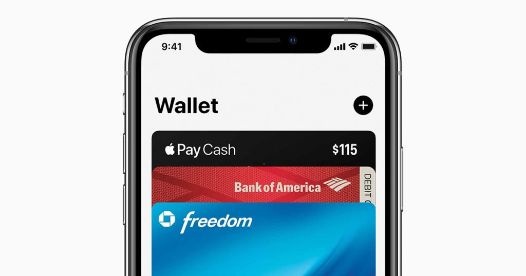Image of the Apple Wallet screen on a modern iPhone.  Image courtesy of Apple
