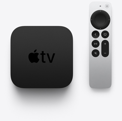 The new Apple TV and Remote. Image Courtesy of Apple.